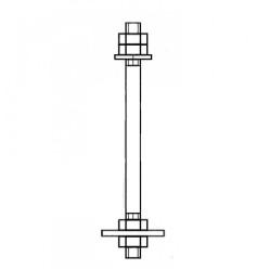 Болт анкерный фундаментный с плитой 2.1 ГОСТ 24379.1-80