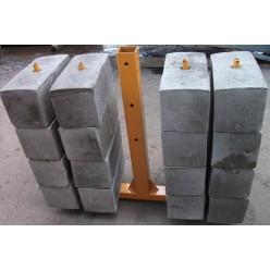 Контргруз для подъемника ZLP (25кг бетонный)