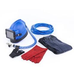 Шлем, фильтр, рукав, регулятор, костюм (р. 52-54), краги - Комплект защиты пескоструйщика