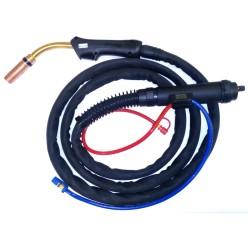 Горелка для полуавтоматической сварки 3M M501D с жидкостным охлаждением, длиной 3 метра и евро-разъемом